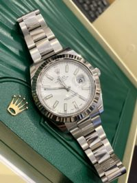 Datejust II 41mm Steel and White Gold 116334 White