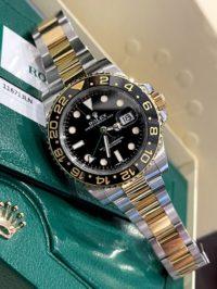 Швейцарские часы Rolex GMT-Master II 40mm Steel and Yellow Gold 116713LN
