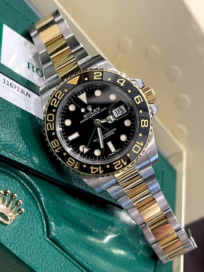 GMT-Master II 40mm Steel and Yellow Gold 116713LN #1