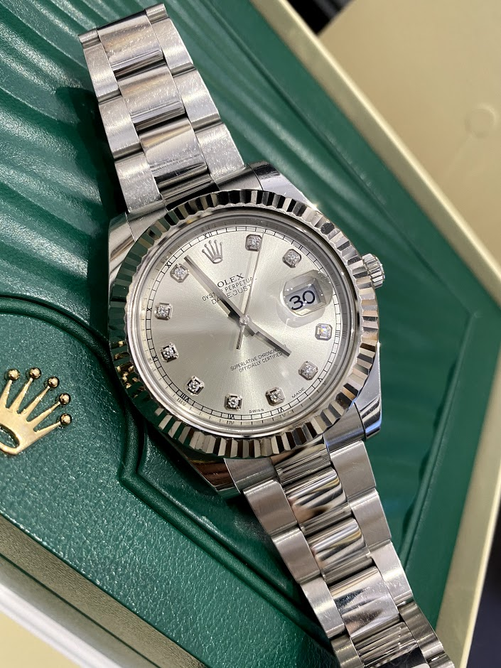 Datejust II 41mm Steel and White Gold 116334-0007 #1
