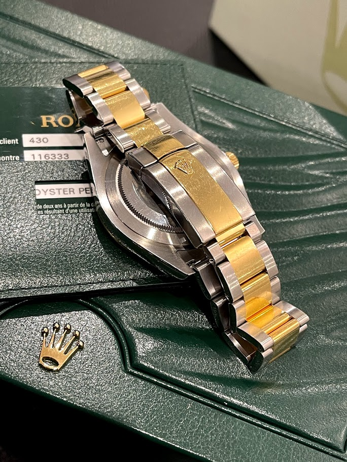 Datejust II 41mm Steel and Yellow Gold 116333 bkro #4
