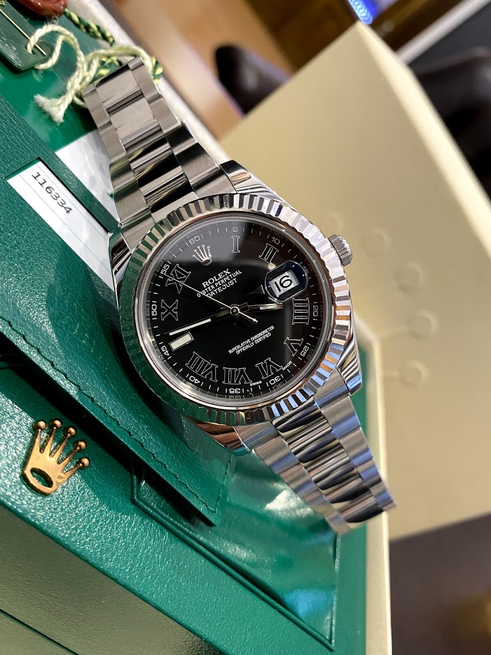Oyster Datejust II 41mm Steel and White Gold 116334 bkrio #1