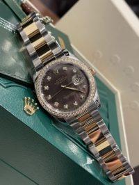 Швейцарские часы Rolex Datejust 36mm Steel and Yellow Gold 116243 BlackMOPD
