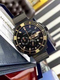 Швейцарские часы Ulysse Nardin Diver Black Sea Chronograph 353-90
