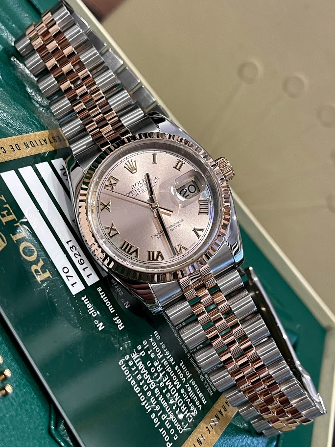 Datejust 36 MM STEEL AND EVEROSE GOLD  116231 #1
