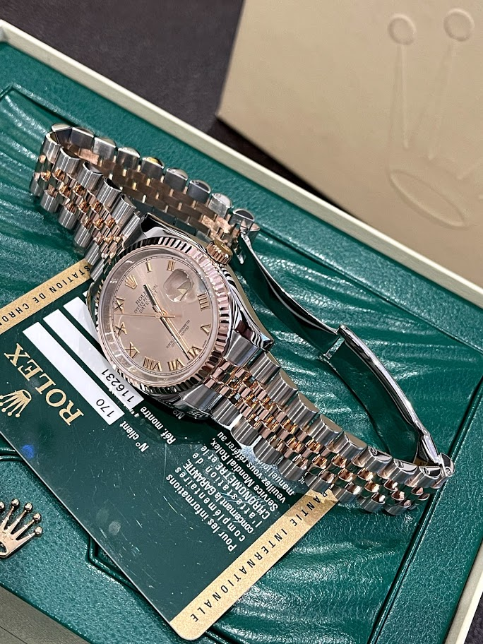 Datejust 36 MM STEEL AND EVEROSE GOLD  116231 #3