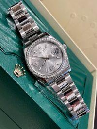 Швейцарские часы Rolex Datejust 36mm steel, white gold and diamonds 116244-0038