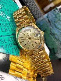 Швейцарские часы Rolex Day-Date Presidential Champagne Dial 18038