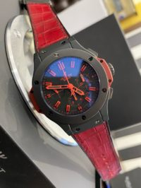 Швейцарские часы Hublot Big Bang 44 MM Black Ceramic All Black Red 301.CI.1130.GR.ABR10