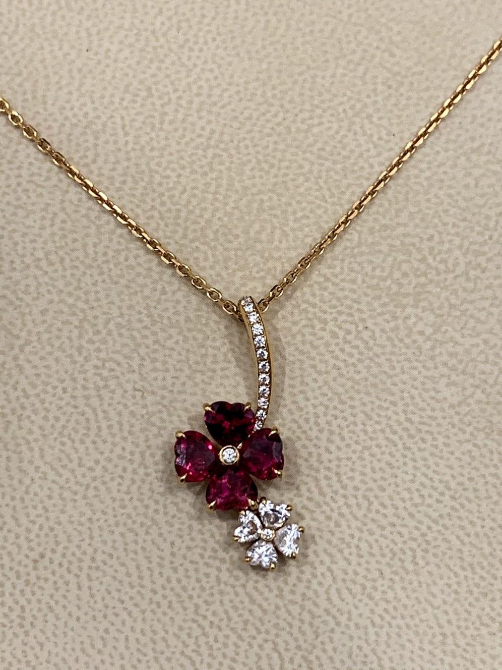 ПОДВЕСКА FOR YOU RUBIES AND DIAMONDS #2