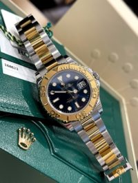 Швейцарские часы Rolex Yacht-Master 35mm Steel and Yellow Gold 168623 Blue
