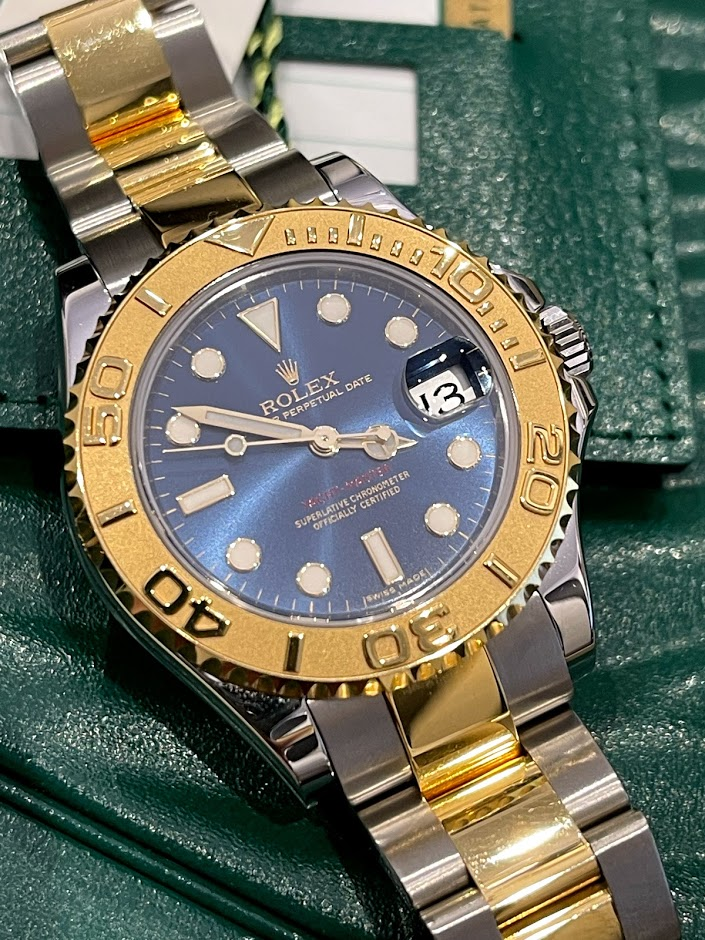 Yacht-Master 35mm Steel and Yellow Gold 168623 Blue #6