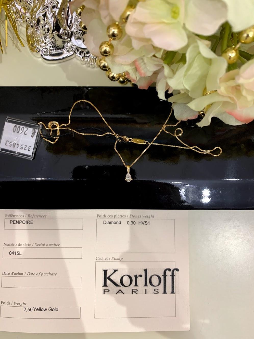 KORLOFF PENPOIRE DIAMOND PENDANT #1