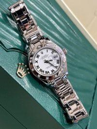 Швейцарские часы Rolex Pearlmaster 29 mm, white gold and diamonds 80319-0040