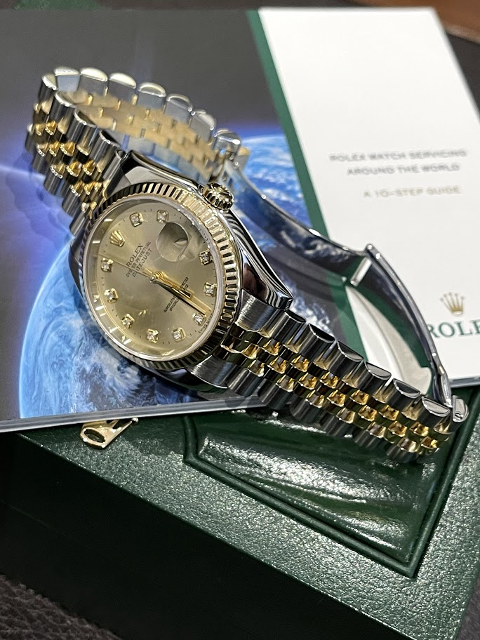 Oyster Datejust 36mm Steel and Yellow Gold 116233-chdj #3