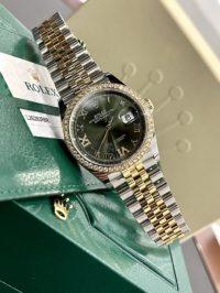 Швейцарские часы Rolex Datejust 36 mm, Oystersteel, yellow gold and diamonds 126283rbr-0011