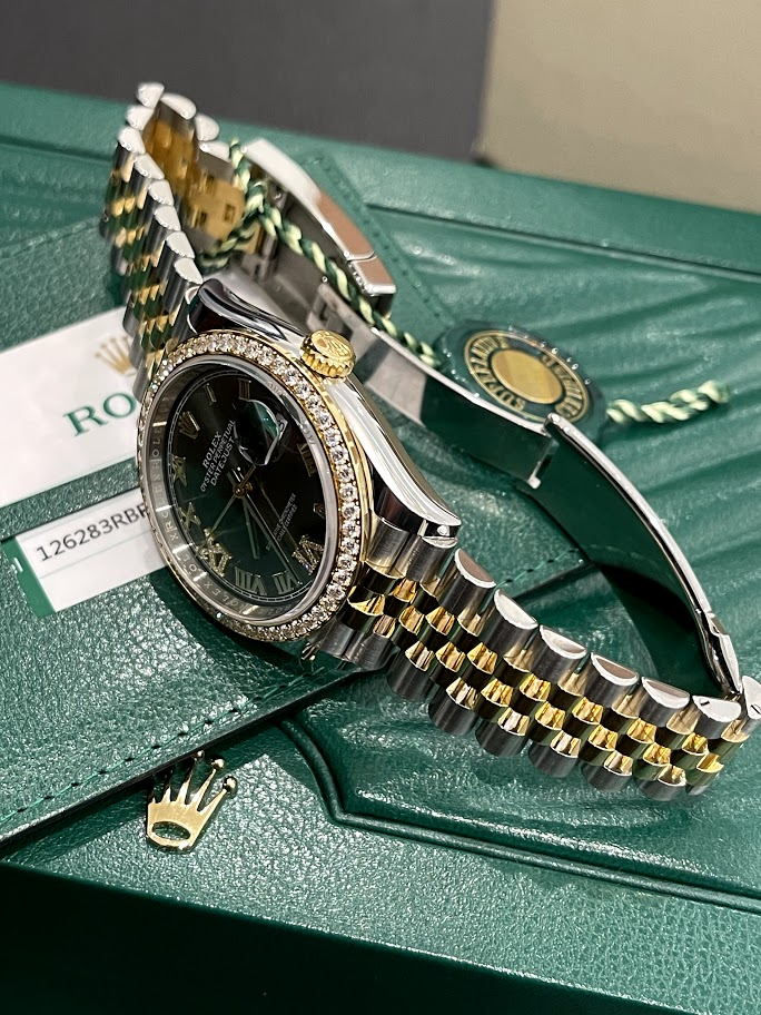 Datejust 36 mm, Oystersteel, yellow gold and diamonds 126283rbr-0011 #3