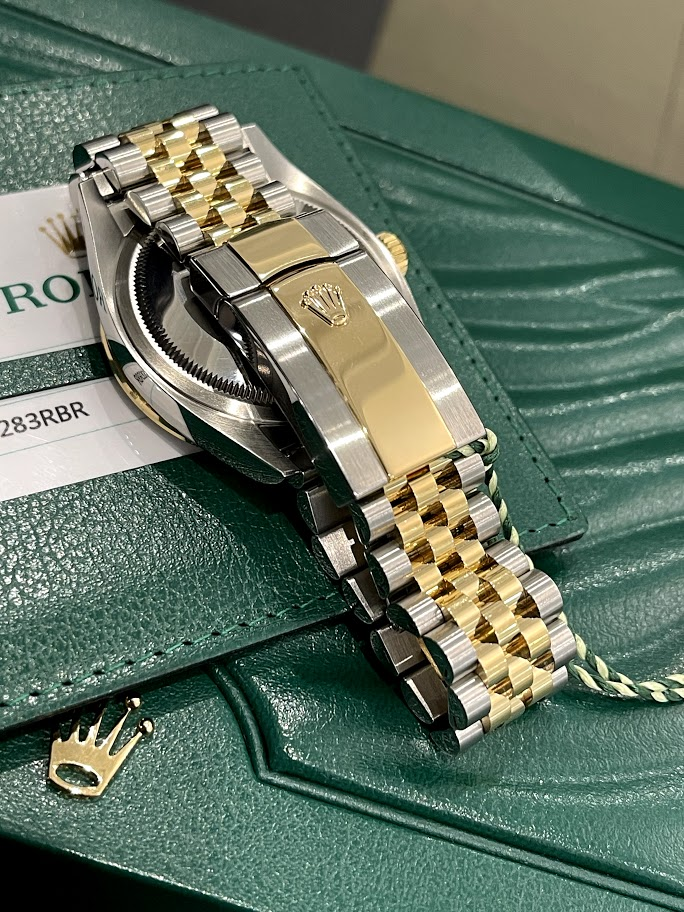 Datejust 36 mm, Oystersteel, yellow gold and diamonds 126283rbr-0011 #4