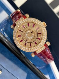 Швейцарские часы Franck Muller Ronde Double Mystery Rose Gold Diamond and Ruby DM 42 D 2R CD