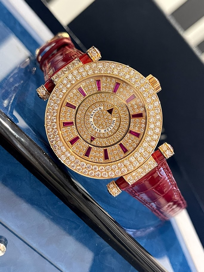 Ronde Double Mystery Rose Gold Diamond and Ruby DM 42 D 2R CD #1