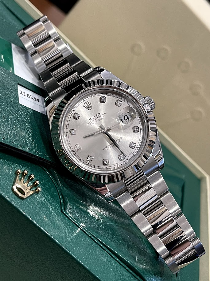 Datejust 41mm Steel and White Gold 116334 #1
