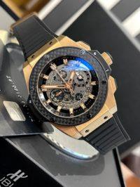 Швейцарские часы Hublot Big Bang King Power 48 mm Unico King Gold Carbon 701.OQ.0180.RX